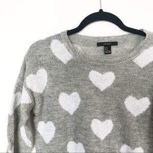 F21 Heart Sweater